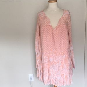 Free People Peach floral dress